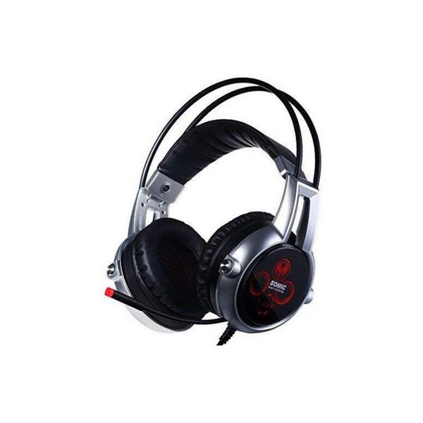 Накладні Навушники провідні з мікрофоном Somic E95x Black/Silver