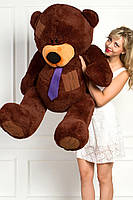 Мишка Тедди плюшевый шоколадный 160 см