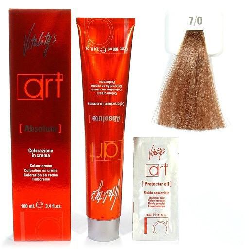 7/0 Краска для волос с масляным коктейлем VITALITY'S Art Absolute – Блондин,100 мл