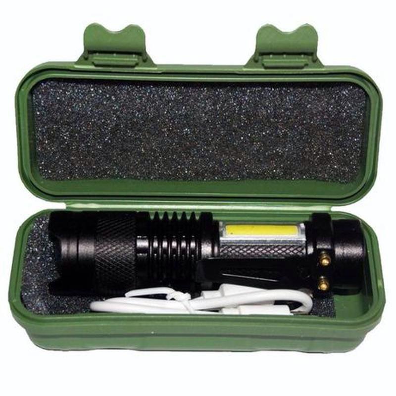 Мини Фонарик BL -525 С Доп. Дневным Освещением Аккумуляторный