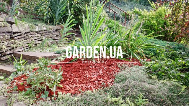 Тріска (тріска) декоративна кольорова GARDEN, 50л, червона, квадратна Фото