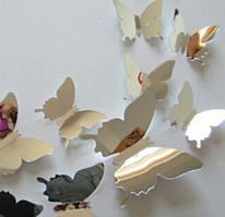 Бабочки 3D зеркальные 3Д декор наклейки
