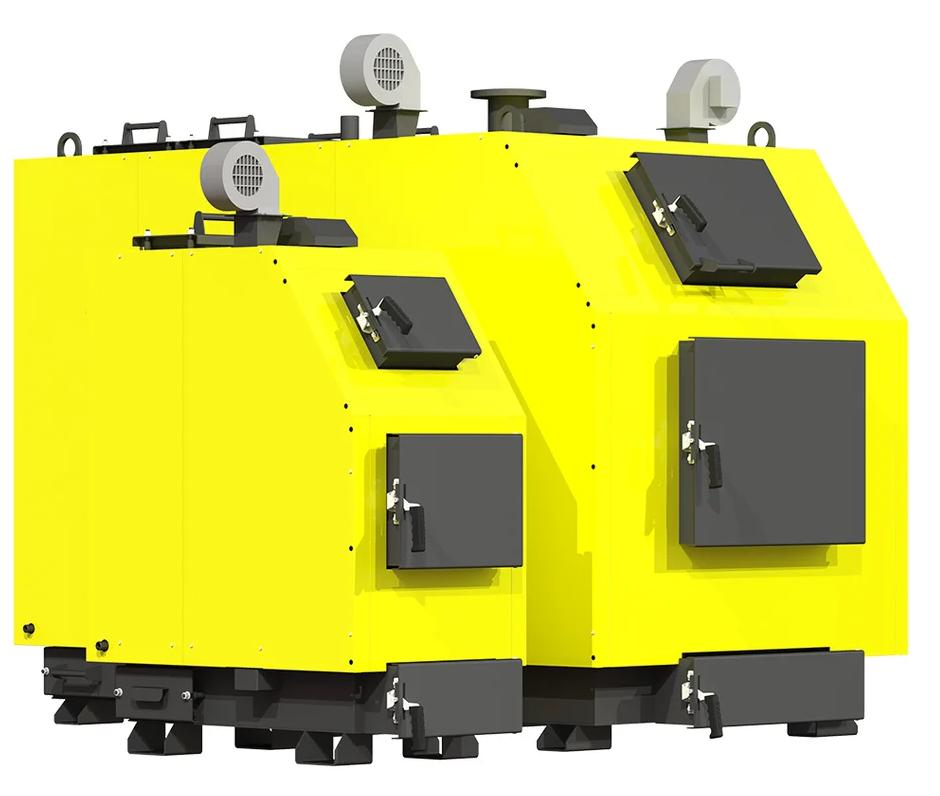 Промышленный котел на твердом топливе Kronas PROM 300 кВт с автоматикой функцией PID и вентилятором