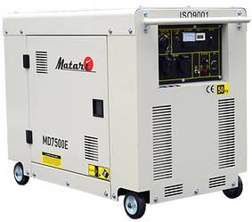 Дизельный генератор Matari MD7500E (5 кВт) в кожухе