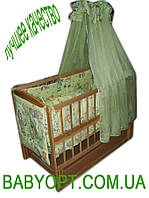 Акция!!! Детская кроватка маятник Малыш+ на подшипниках  светлая. Отличное качество., фото 1