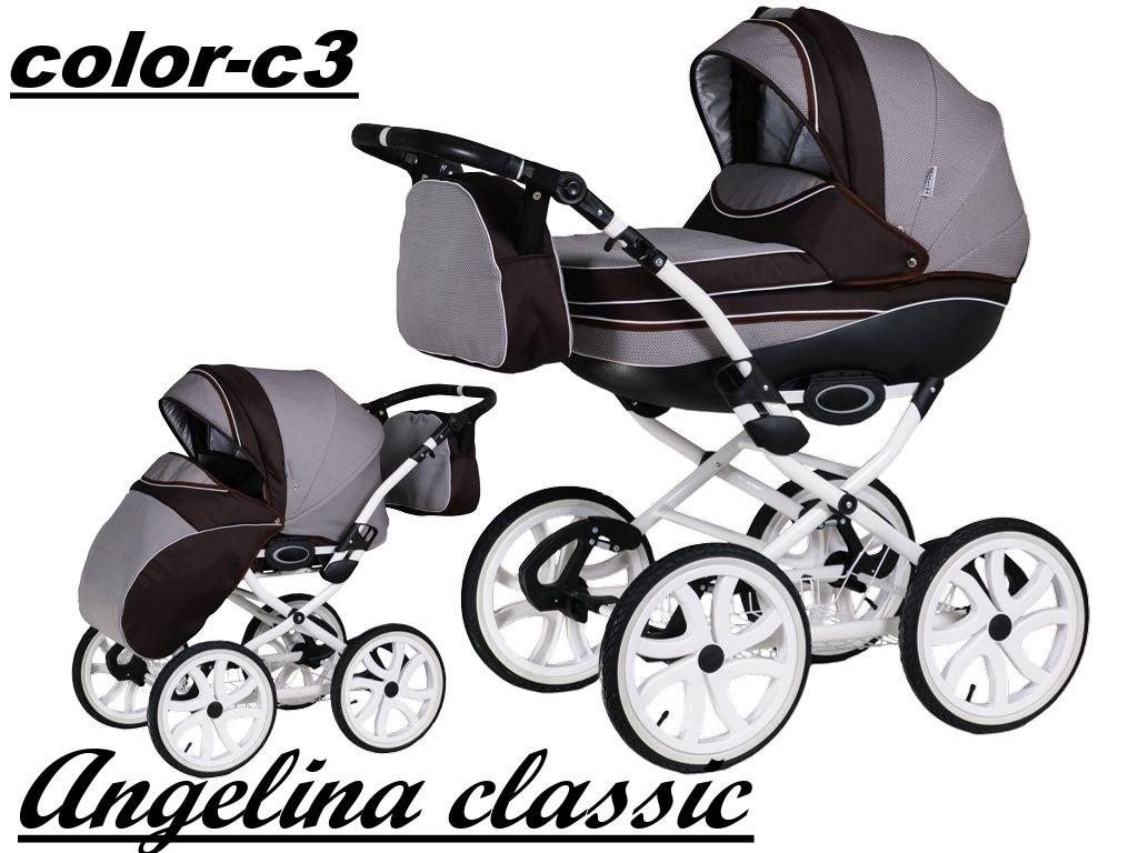 Коляска 2 в 1 Angelina Classic color c3 (Ангелина Классик)