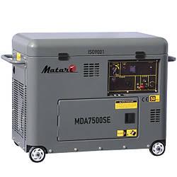 Дизельный генератор Matari MDA7500SE (5 кВт) в кожухе с ABP