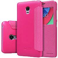 Шкіряний чохол Nillkin Sparkle для Lenovo VIBE P1 рожевий, фото 1