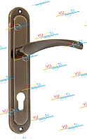 Дверная ручка YUTL Браво бронза Входная 85 мм