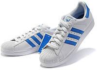 """Кроссовки Adidas Superstar 80 """"White Blue"""" (Копия ААА+)"""