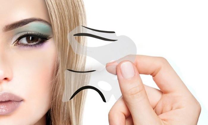 Шаблон, трафарет для макияжа, подводка глаз форма 2 стиля