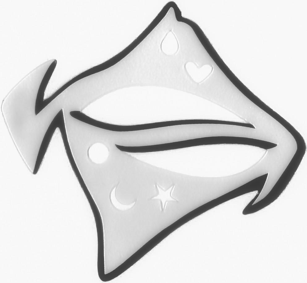 Шаблон, трафарет для макияжа, подводка глаз форма 4 стиля