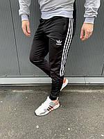 Спортивные штаны ADIDAS мужские качество ТОП Реплика Черные (Размер S)