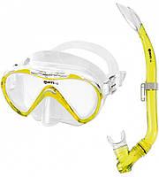 Набор Mares Seahorse (маска+трубка) (Желтый)