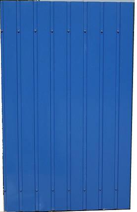 Профнастил ПС-8, Альбатрос 0,35 мм цвет: синий  1,75м Х 0,95м, фото 2