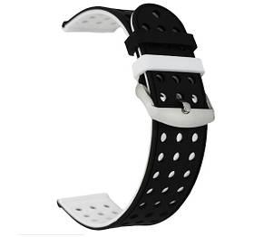 Подвійний ремінець з перфорацією для годин Samsung Galaxy Watch 3 45mm (SM-R840) - Black&White