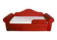 Кровать-диван Мелани/Melani. ТМ Viorina-deko. (Красный.)