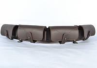 Патронташ на 24 патрона закрытый кожа-спилок коричневый