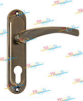 Дверная ручка YUTL Браво бронза Микро 62 мм
