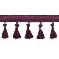Тесьма с кисточками темно-бордовая