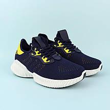 20-655(blue) Кроссовки синие  подростковые для мальчика тм Violeta размер 38,40,41, фото 2