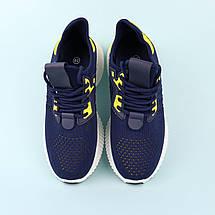 20-655(blue) Кроссовки синие  подростковые для мальчика тм Violeta размер 38,40,41, фото 3