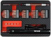 """Отвертка аккумуляторная 1/4"""" с набором бит YATO, 39шт. в кейсе"""