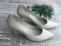Кожаные женские туфли Sodis 6003 беж размеры 35-41, фото 1