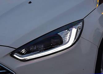 Передние фары Ford Focus 3 (15-18) тюнинг Led оптика стиль Fusion