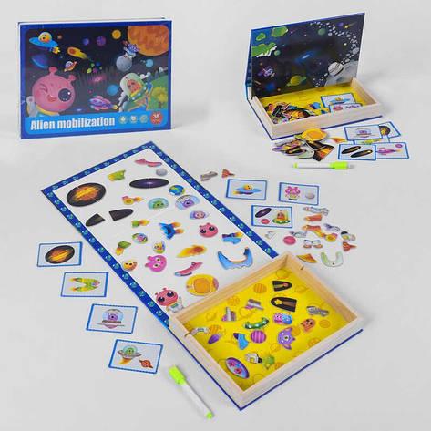 Деревянная Логическая игра B 33486 (32) магнитная, в коробке, фото 2