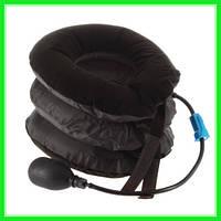 Надувная подушка для шеи Ting Pai Чёрная, Воздушный насос