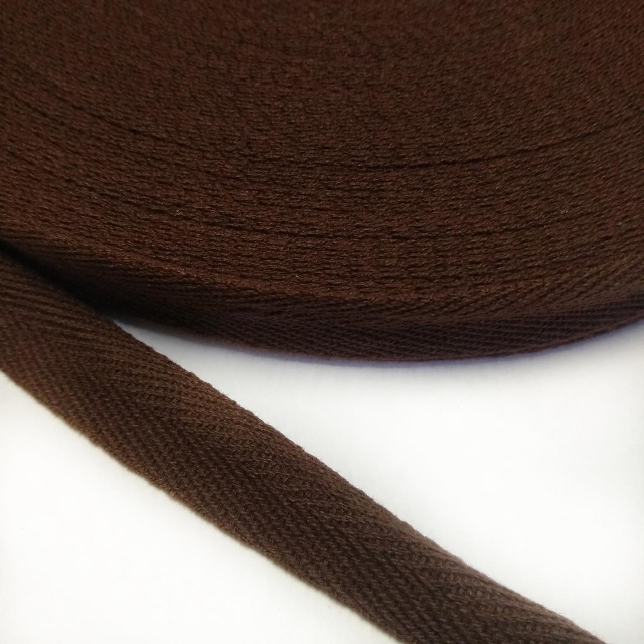 Киперная лента хб, 10мм. коричневая.