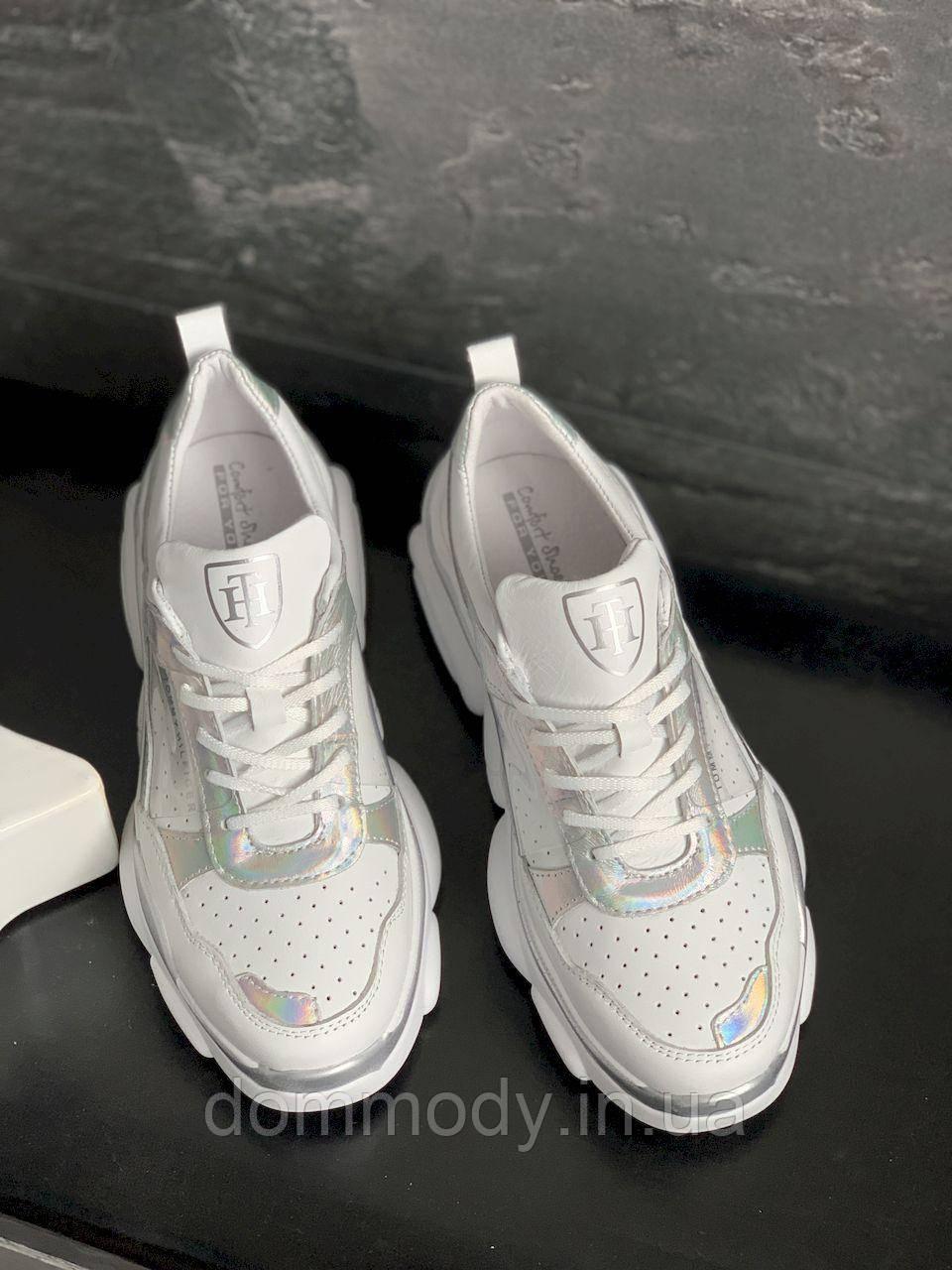 Кросівки жіночі білого кольору Before
