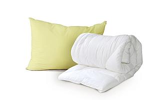 Одеяло двойное Luxbaby Classic белое 175х200cм + подушка 40х60 см в подарок