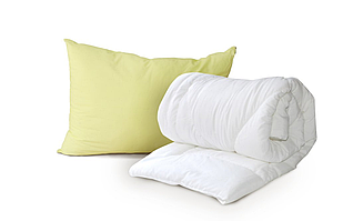 Одеяло двухспальное Luxbaby Premium белое 175х200cм + подушка 50х70 см в подарок