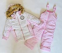 Детский зимний комбинезон на девочку 3-5лет, зимние костюмы детские