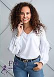 """Блуза з об'ємним рукавом """"Adel"""", фото 2"""