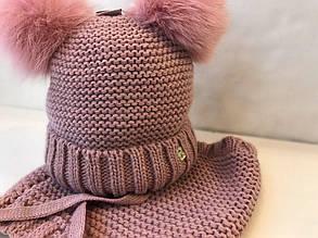 Комплект шапка + шарф для девочки BARBARAS Польша RV334 \ YL Розовый