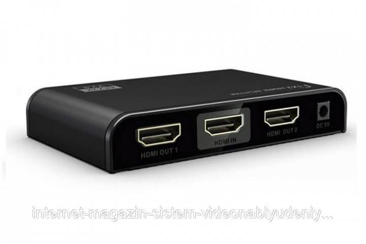 Сплиттер Lenkeng LKV312-V2.0 1 в 2 HDMI 2.0 4К HDR EDID (LKV312HDR-V2.0)