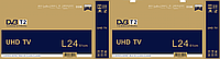 L24 Телевизор LED 24 дюйма TV HD HDMI A+ T2 + 12V