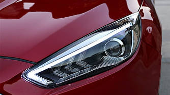 Передние фары Ford Focus 3 (15-18) тюнинг Led оптика стиль Mustang