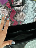Женская сумка с тиснением рептилия код 7-5922, фото 4