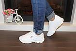 Кроссовки белые женские Т1136, фото 3