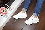 Кроссовки белые женские Т1136, фото 4