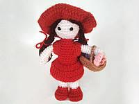 Вязаная игрушка ручной работы KTG-6 девочка
