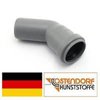 Колено PP 32х45 внутренней канализации Ostendorf HT Германия