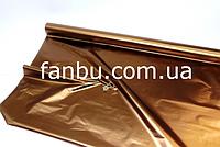 Полисилк на разрез,бронзо-коричневый( 1 лист 0.5м*1м)