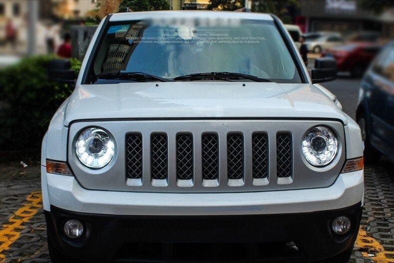 Фары Jeep Patriot (10-14) Led оптика стиль Mansory (под ксенон)