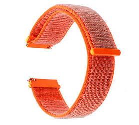 Нейлоновий ремінець для годинника Samsung Galaxy Watch 3 45mm (SM-R840) - Orange