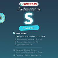 """Подписка SWEET TV ТАРИФ """"S"""" 154 ТВ канала 3000 фильмов - 3 мес"""